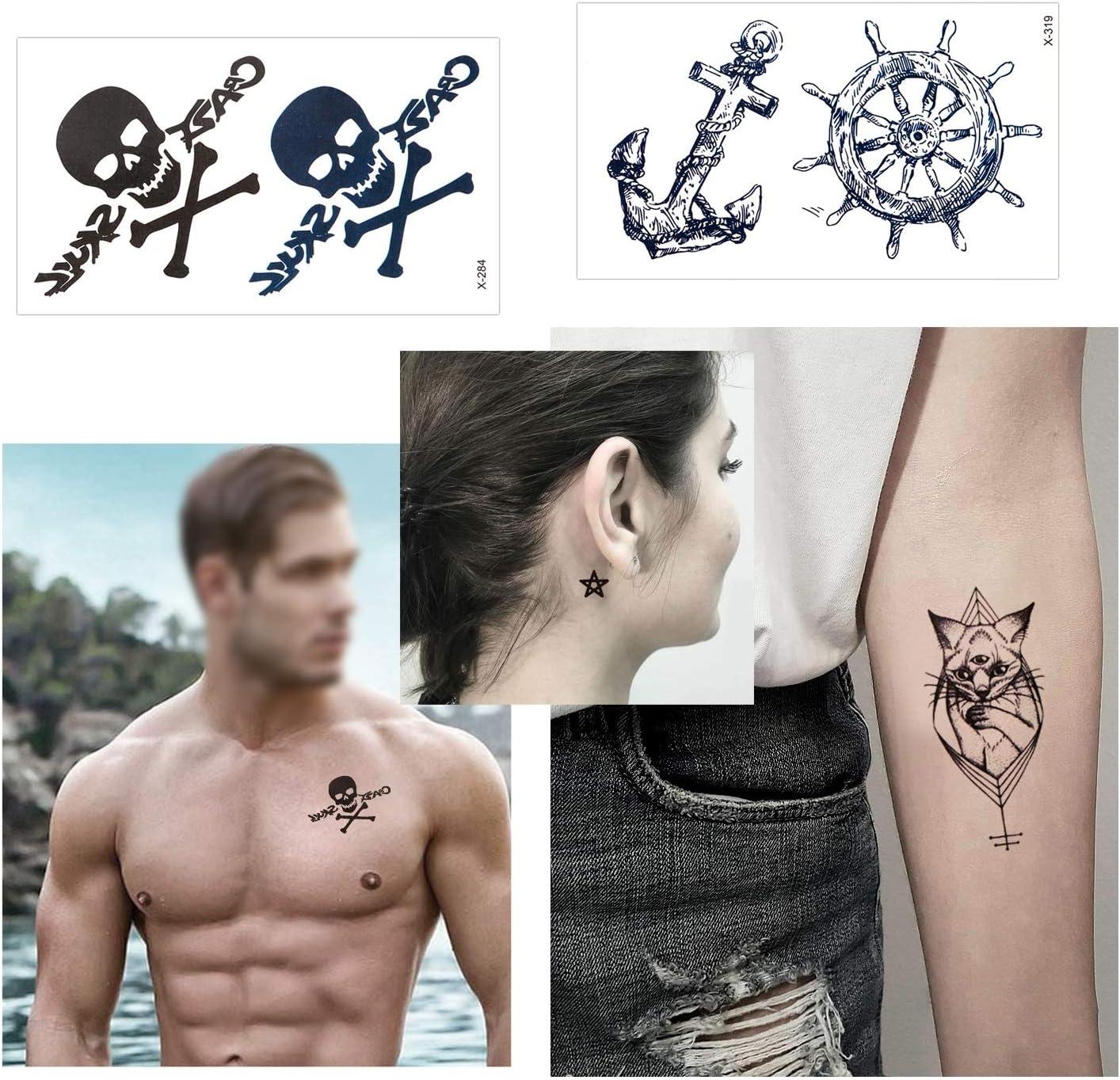 Konsait Tatuajes temporales para adultos Mujer hombre (30 hojas ...