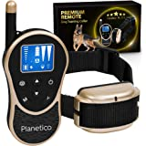Remote Dog Training Collar, Large Clear LCD Screen, Bark & Behavior Control Device PL-774, Waterproof, Rechargeable, 2625 Ft Long Range, Beep / Light / Vibration / Shock Modes to Train Your Pet Safely