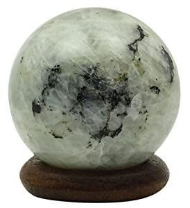 HARMONIZE Rainbow Moonstone Sphere Ball Balancing Art Reiki Healing Stone Table Decor
