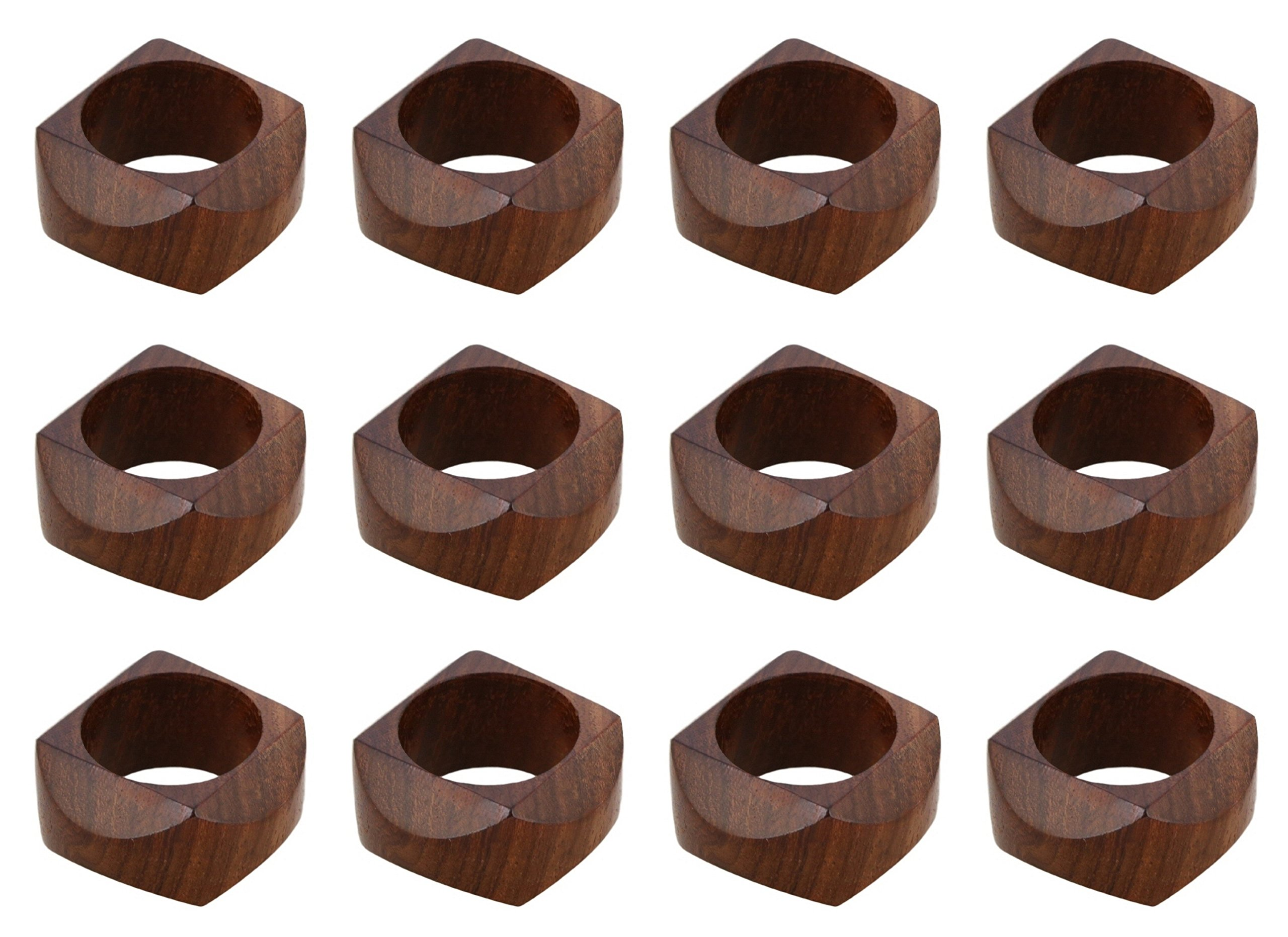 ARN Craft Handmade Wedding Party Decorations Wood Napkin Rings Set of 12 for Dinner Ideas  (CW- 09-12)