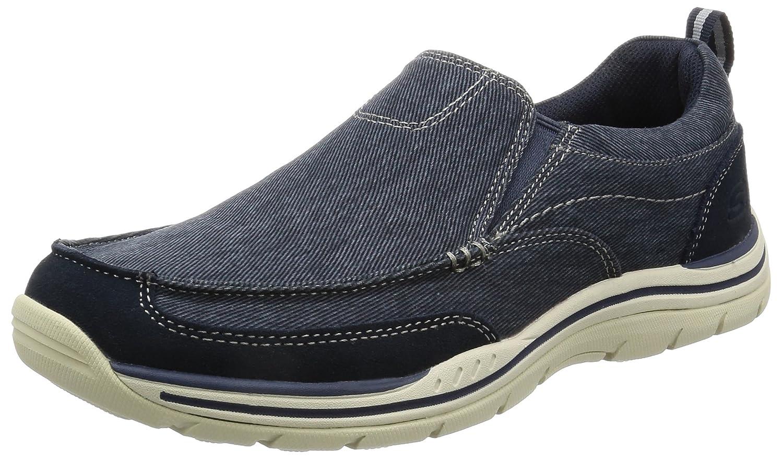 Skechers Expected-Tomen, Mocasines para Hombre 10.5 D(M) US Azul (Navy)