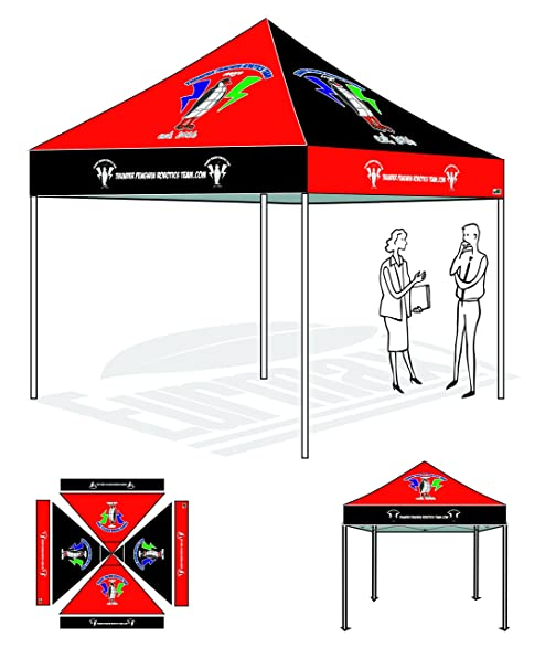 Eurmax Canopy Custom Printed Canopy Ez Pop up Commercial Grade Canopy Imprinted Fair Vendor Tent With  sc 1 st  Amazon.com & Amazon.com : Eurmax Canopy Custom Printed Canopy Ez Pop up ...