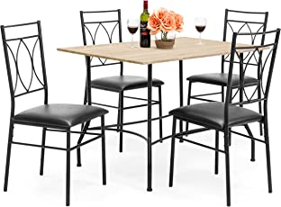 dining room table sets. Best Choice Products 5-Piece Dining Set W/Wood Table, Metal Chairs, Room Table Sets