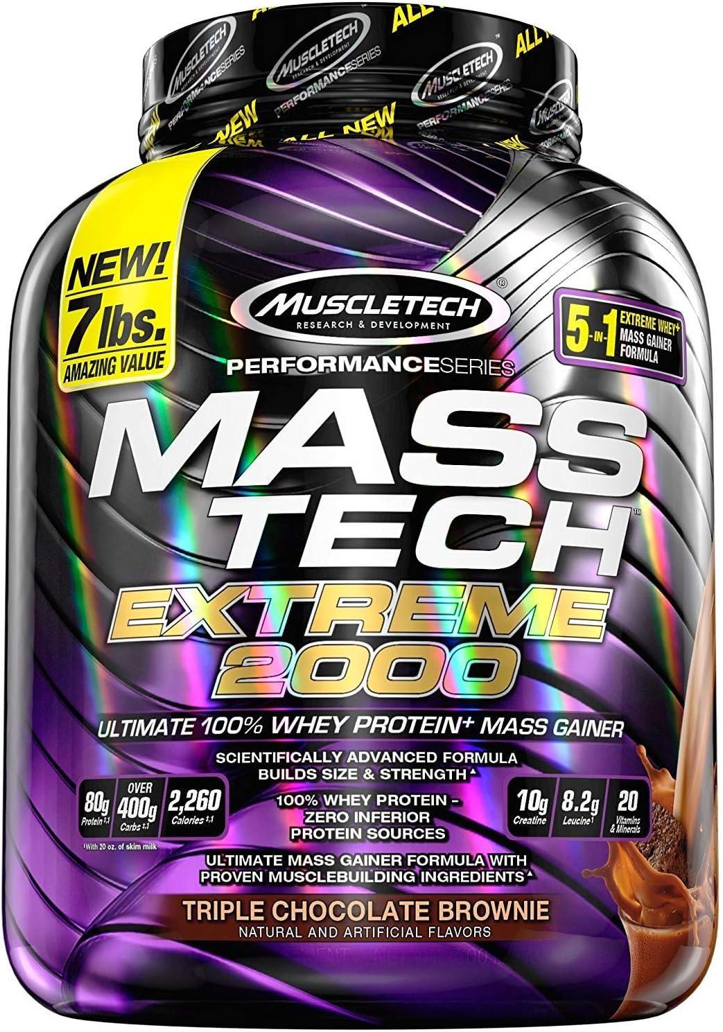 Muscletech Performance Series Mass Tech Extreme 2000 Triple Chocolate Brownie - 3175 gr