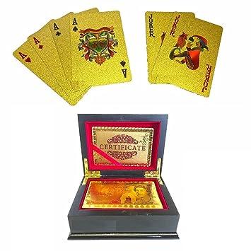 Baraja Cartas Poker Chapada Dorada 24K Lujosa £50 Edición ...