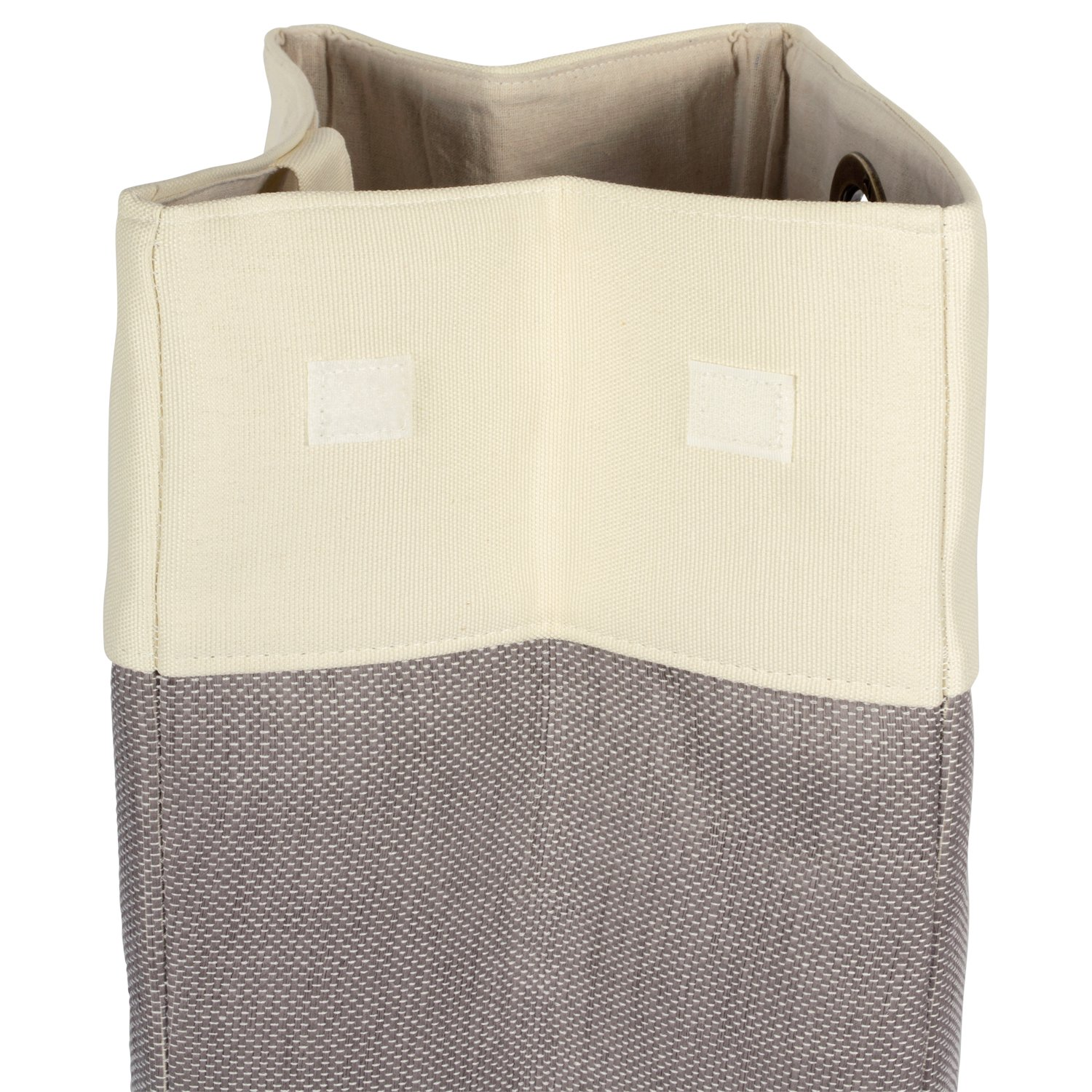 For Clean and Drity Clothes and Home Organization Gray Colorblock CAMZ38293 Assorted Set of 2 Dorm DII Heavy Duty Canvas Laundry Basket or Bin Perfect In Your Bedroom Closet Nursey Laundry Room