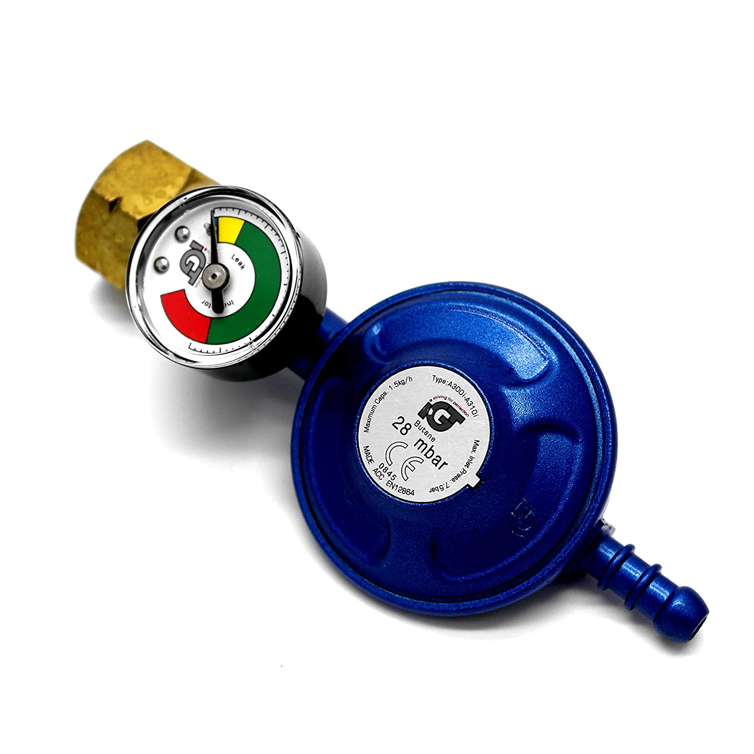 IGT Butane Gas Regulator With Pressure Gauge Fits Calor 4.5Kg Dumpy 5Y Warranty