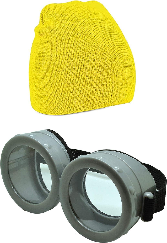 Gafas de Minion de la película «Gru, mi villano favorito» de ASVP Shop® amarillo Beanie & Goggle Set talla única