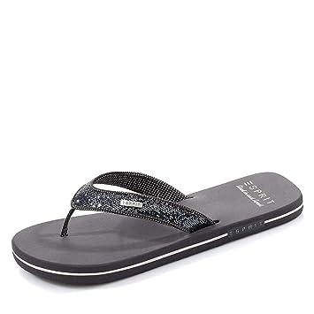 designer fashion 6b735 43661 ESPRIT Glitter Thongs 034EK1W049 Damen Zehentrenner, platin 041, EU (38)