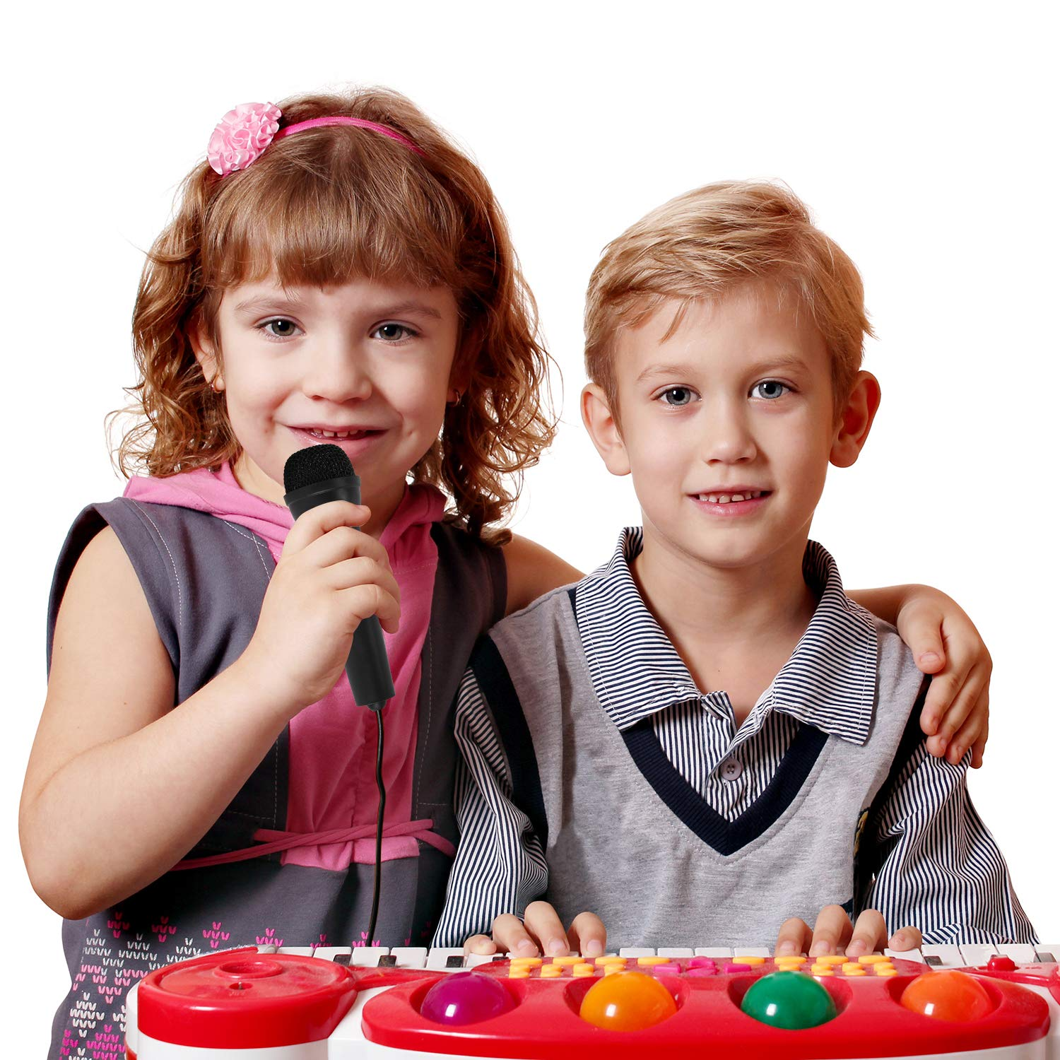 3.5mm Plug and Play Microphones for Kids Piano Keyboard Singing PC Computer Video Recording Karaoke Microphone for Kids Online Chatting
