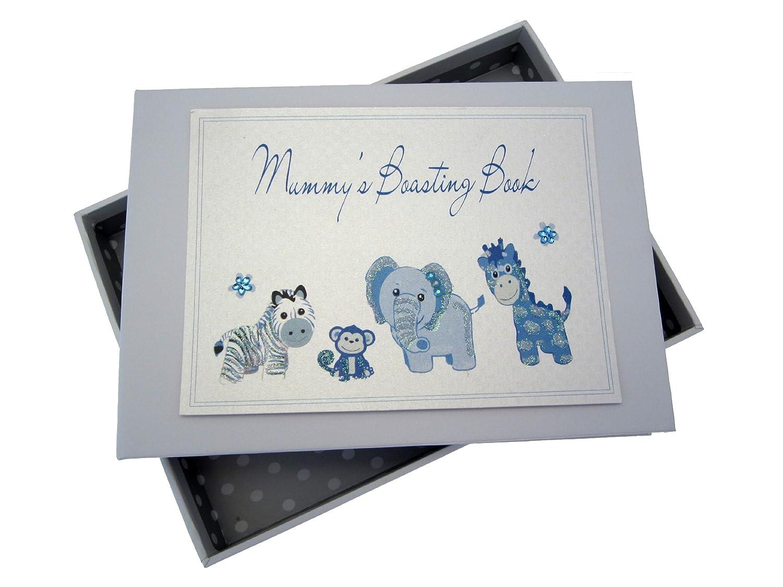 White Cotton Cards Mummy's Boasting Book Photo Album (Tiny, Blue) MTB
