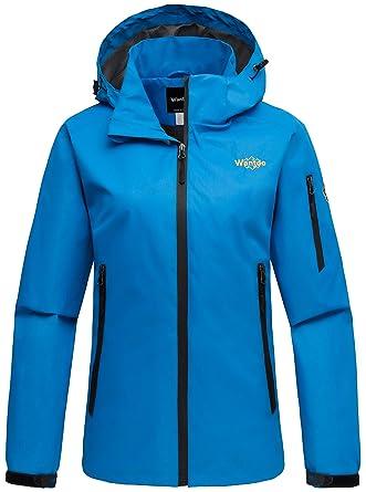 bd623232c Amazon.com  Wantdo Women s Hoodie Front Zip Raincoat Outdoor ...