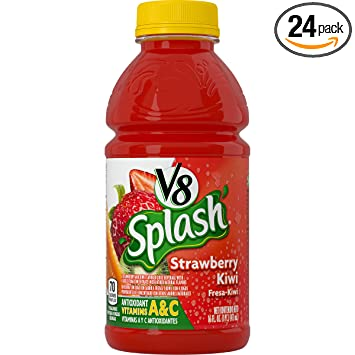 V8 Splash, Strawberry Kiwi, 16 Ounce (Pack of 24)
