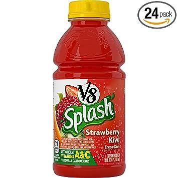 V8 Splash, Strawberry Kiwi, 16 Ounce (Pack of 24)