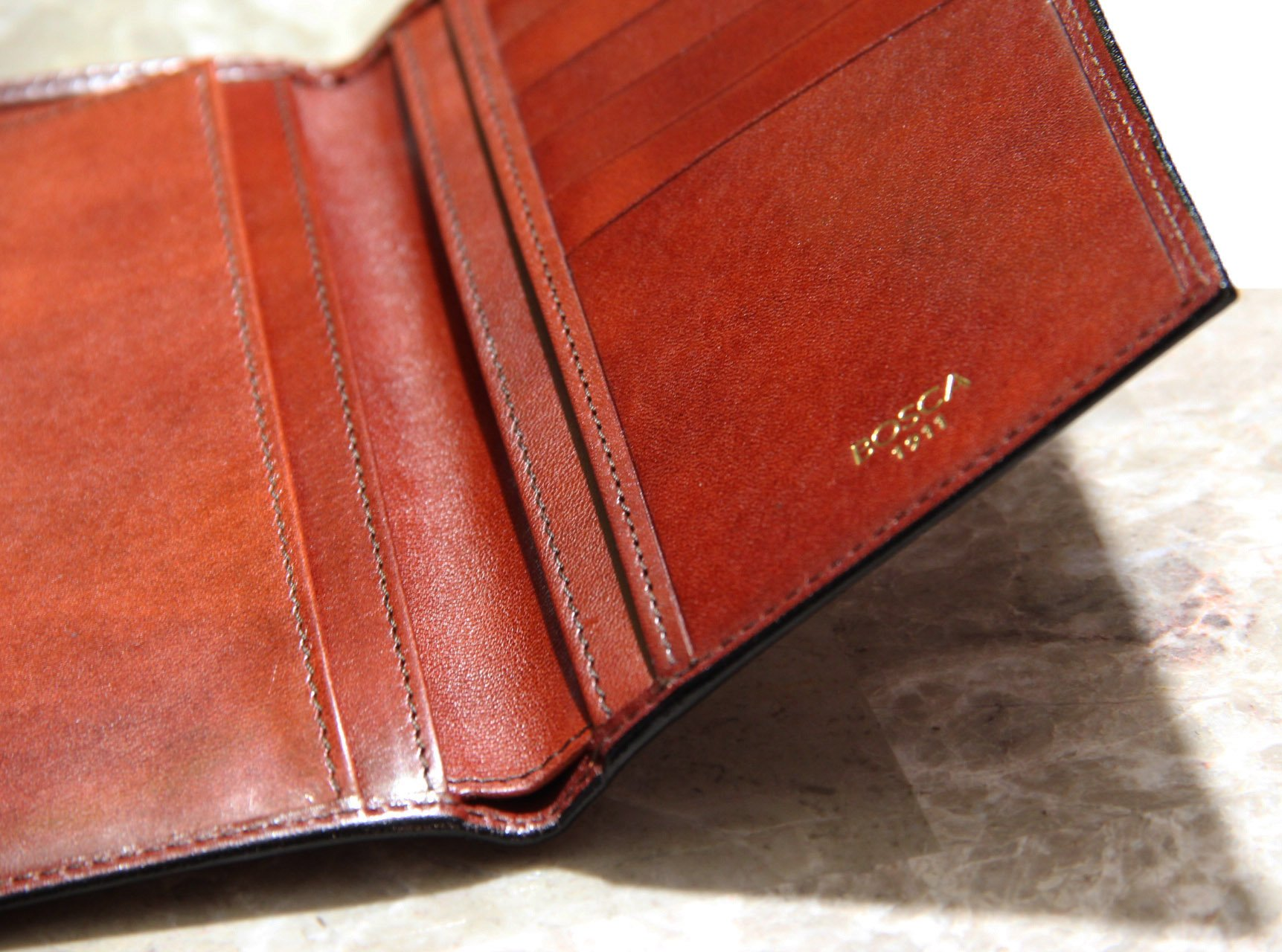 Bosca Old Leather Coat Pocket Wallet (One Size, Cognac)