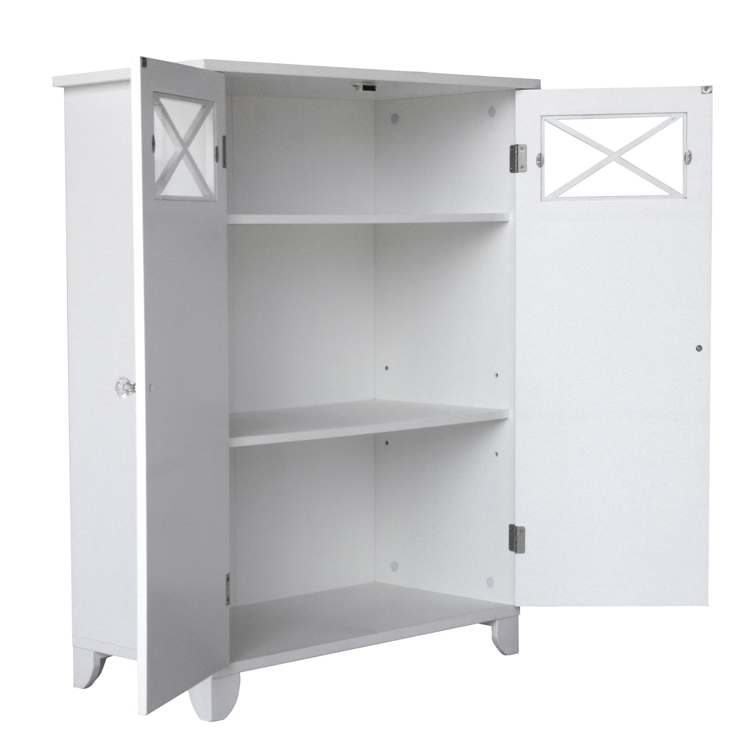 Elegant Home Fashions Dawson Collection Shelved Floor Cabinet, White by Elegant Home Fashions (Image #2)
