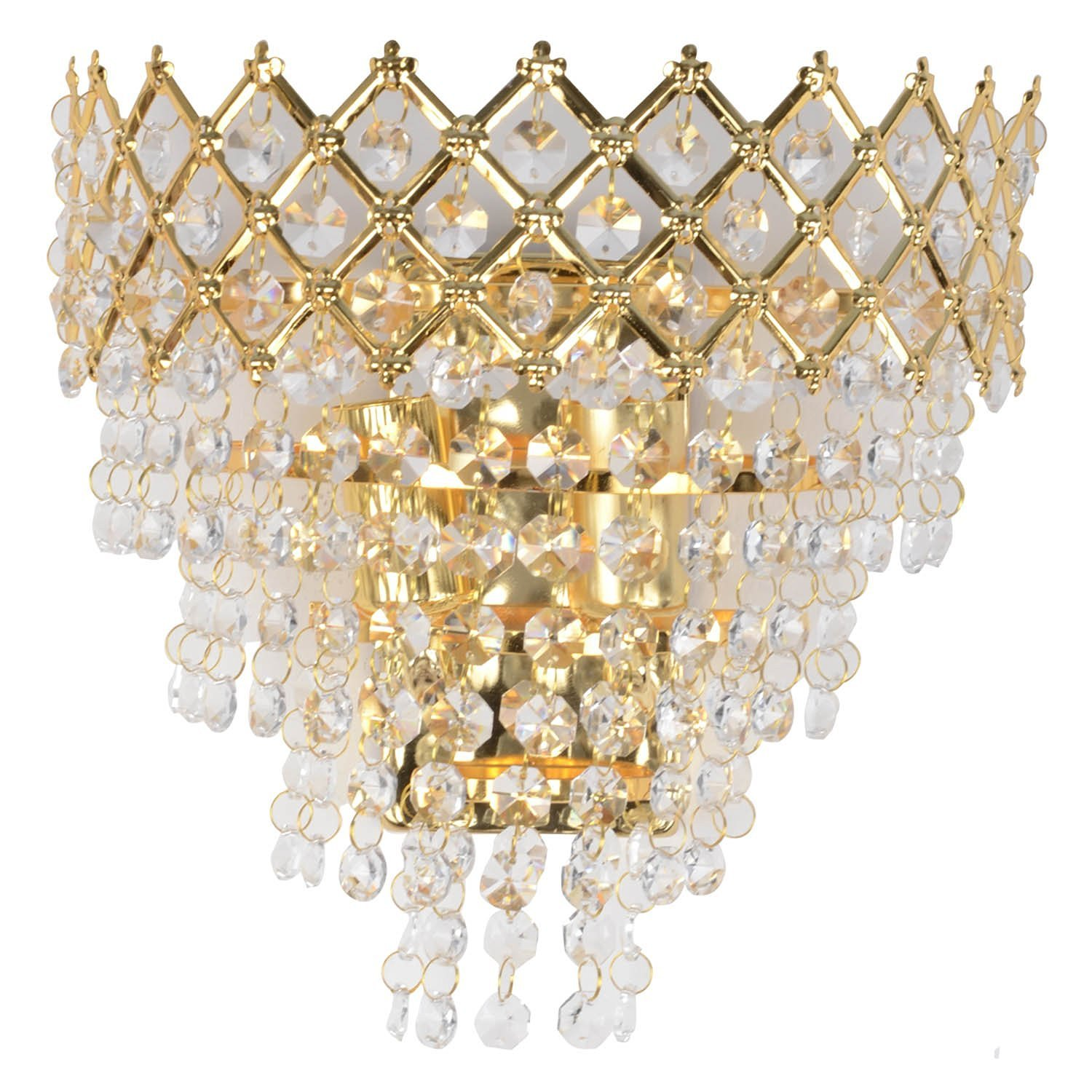 Golden crystal wall light for bedroom living room home decor