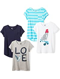 Spotted Zebra Girls 4 Pack Short Sleeve T Shirts