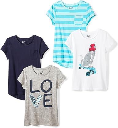 Spotted Zebra Girls' Short-Sleeve T-Shirts