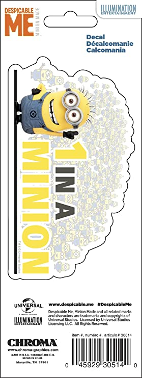 CHROMA 030508 Minions Stacked 3X8 Stick ONZ Decal