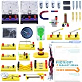 LERBOR STEM Physics Science Lab Basic Circuit Learning Kit Electricity and Magnetism Experiment Introduction for Kids Junior Senior High School Students Electromagnetism Education Support Electronics