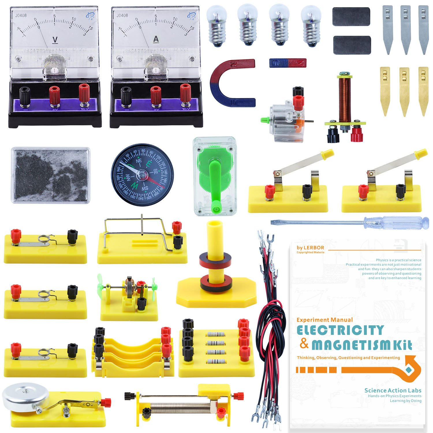 Lerbor Stem Physics Science Lab Basic Circuit Learning Kit How To Explain Electronics For Kids Electricity And Magnetism Experiment Introduction