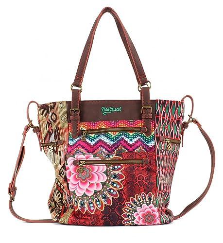 Desigual Bols Argentina Tanzania Shopper, Bolso de tela para mujer teja rustica (multicolor)
