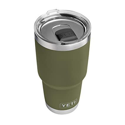 4695c05dde5 Amazon.com | YETI Rambler 30 oz Stainless Steel Vacuum Insulated Tumbler w/MagSlider  Lid, Olive Green: Tumblers & Water Glasses