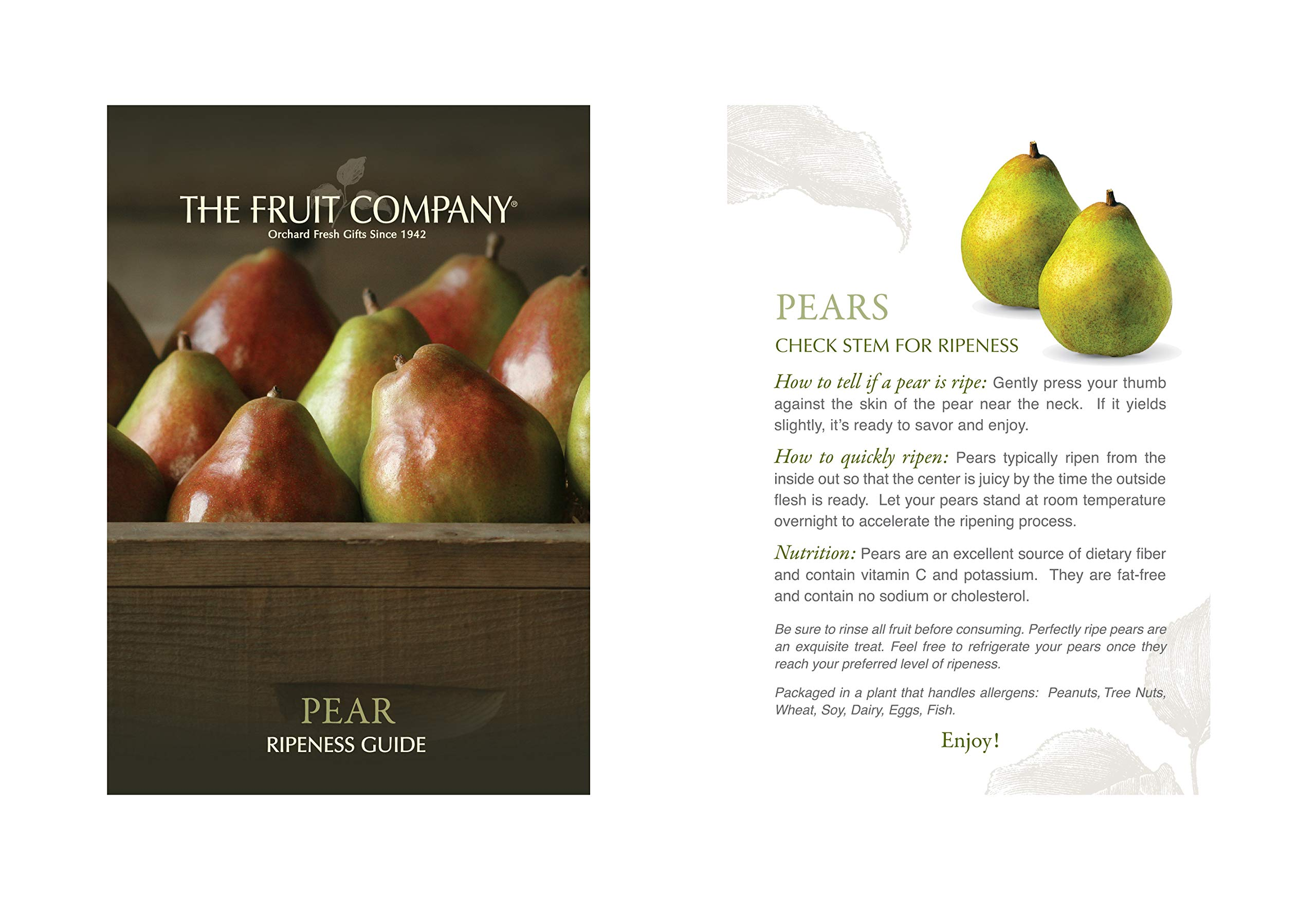 The Fruit Company - Oregon's Finest Summer Gift Box -9 Pieces Premium Fresh Fruit - Fuji Apples and Pears Chocolate Ganache Brownie & Fruit Inspired Taffy Comes in a Bamboo Print Box by The Fruit Company (Image #2)