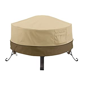 Classic Accessories Veranda Round Fire Pit/Table Cover, 36-Inch