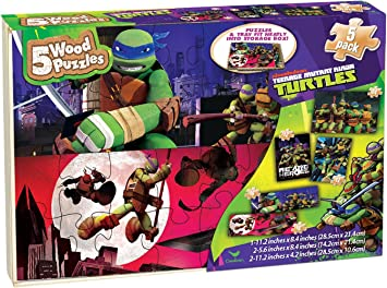 Amazon.com: Teenage Mutant Ninja Turtle Puzzle Pack por ...