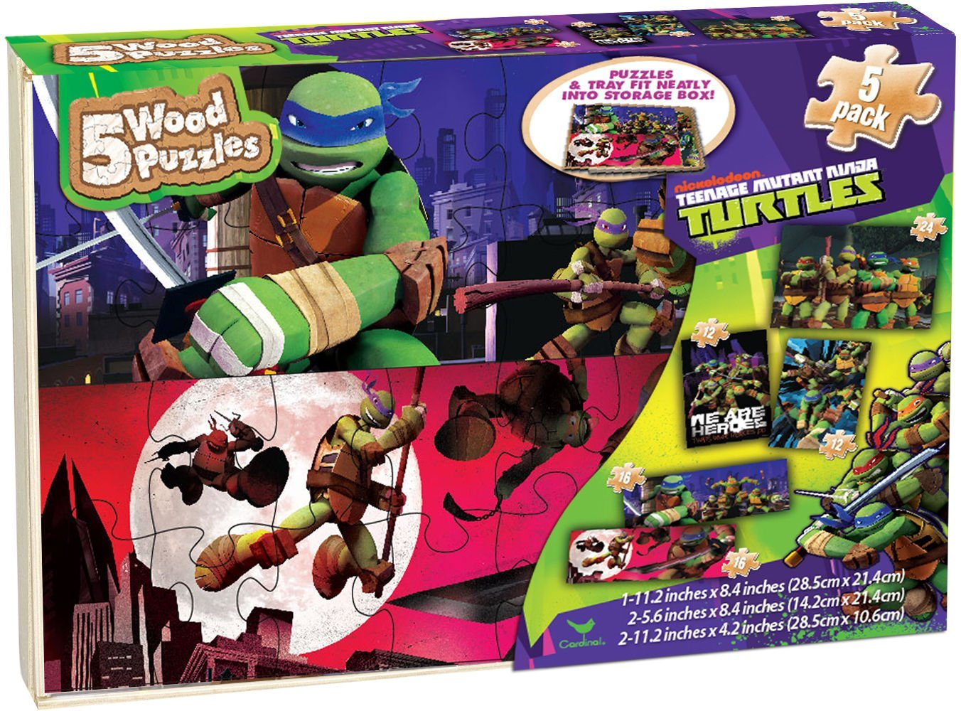 Gift Item Teenage Mutant Ninja Turtle Puzzle Pack by Cardinal