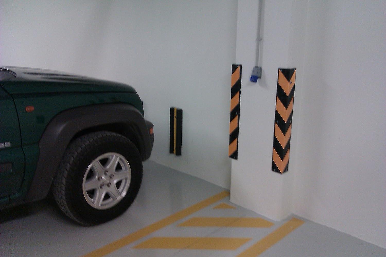 colore nero e giallo dimensioni 80 x 10 x 10 cm spessore 8 mm SNS SAFETY LTD RCG-131x2 Paraspigoli in gomma confezione da 2 pezzi per parcheggi e magazzini
