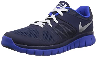 New Nike Boy's Flex 2014 Run Athletic Shoe Navy/Lyon Blue 4.5