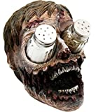 "Atlantic Collectibles Gory Eyeless Zombie Walking Undead Salt Pepper Shakers Holder Figurine 5.5""H"