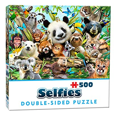 Cheatwell Games 28415 Jungle Double-Sided Selfie Puzzle: Toys & Games