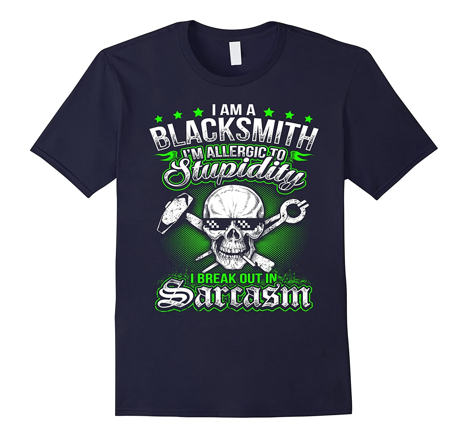 I am a Blacksmith Im Allergic to - Blacksmith T-Shirt-TD