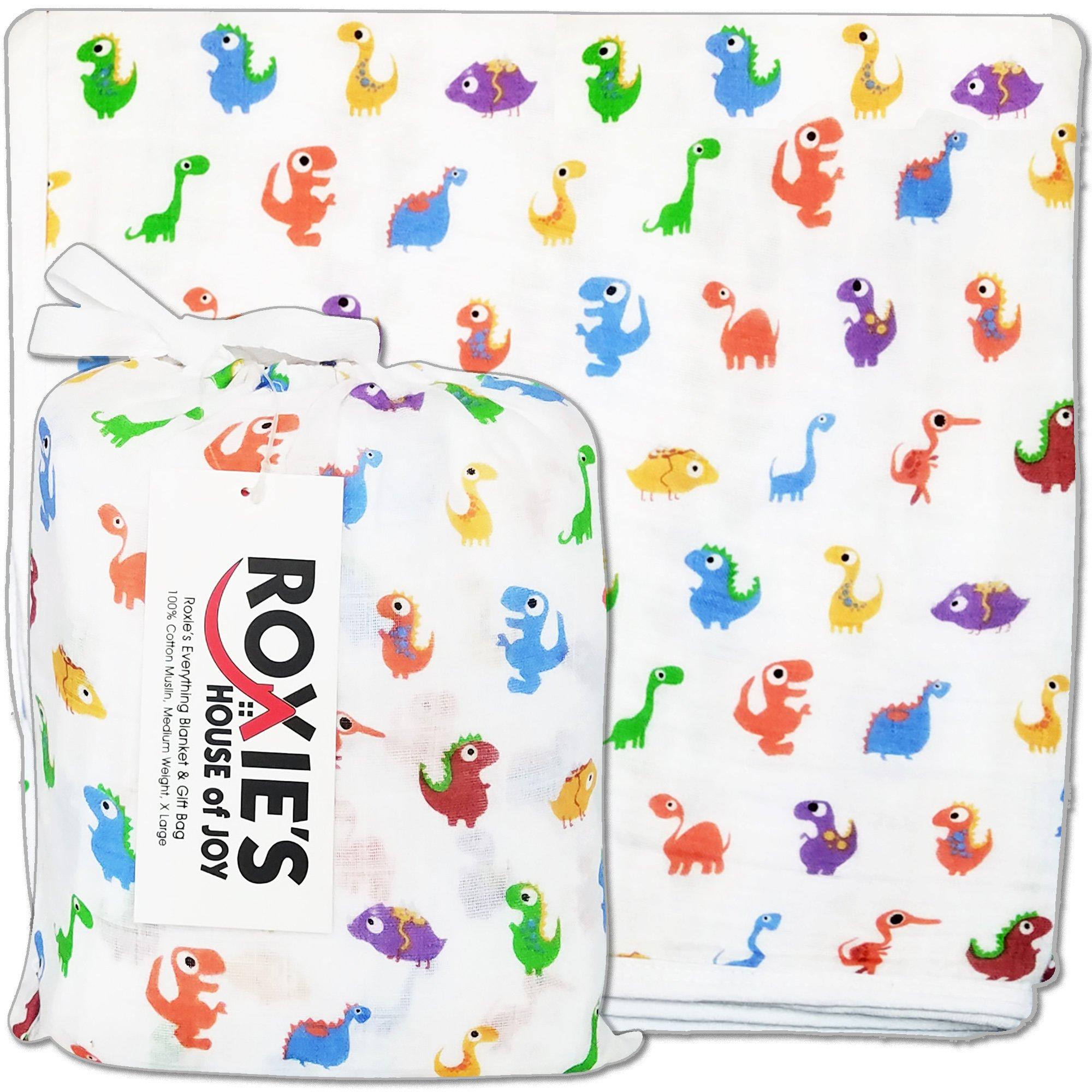 Everything Cotton Baby Toddler Blanket - Security Stroller Crib Registry,, Dinosaurs