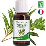 Huile essentielle d'ARBRE À THÉ (Tea Tree) BIO - 30 ml - 100% Pure et Naturelle, certifiée Biologique, HEBBD, HECT - Mearome, Qualité et Fabrication Française