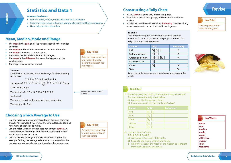 Ks3 Maths (standard) Revision Guide (collins Ks3 Revision): Amazon:  Collins Ks3: 9780007562763: Books