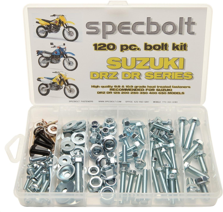 120PC Bolt Kit Suzuki DR-Z DR 70 100 110 125 200 250 350 400 650 DRZ SM Plastics