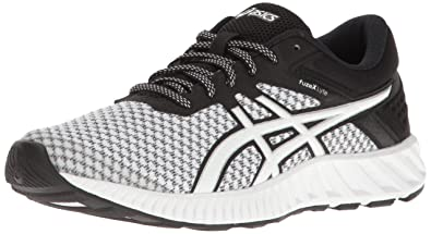 ASICS Women's Fuzex Lyte 2 Running Shoe, White/Black/Silver, 5 M