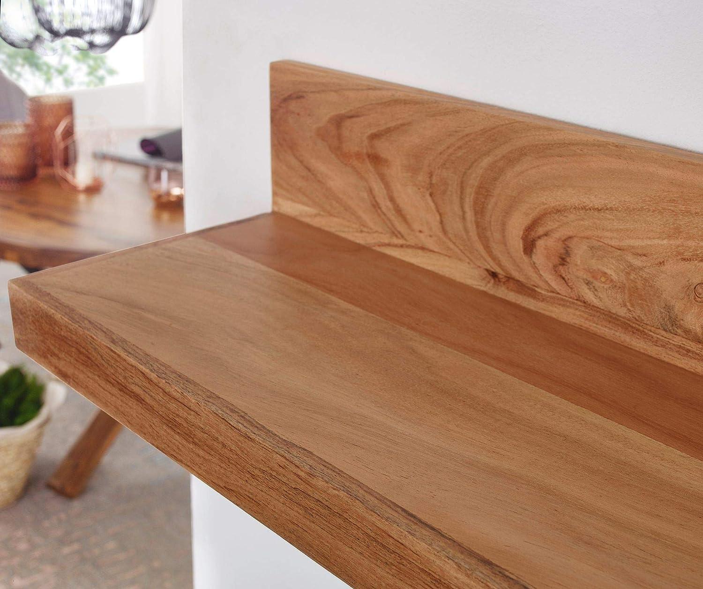 Finebuy Wandregal Massiv Holz Akazie Holzregal 60 Cm Breit