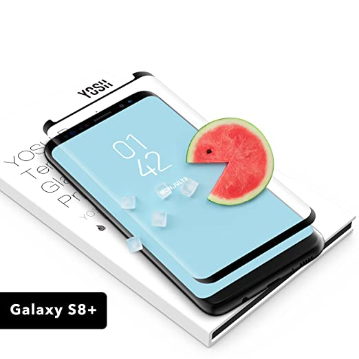 54 opinioni per Pellicola Vetro Temperato per Samsung Galaxy S8+ Plus, YOSH [Non copertura