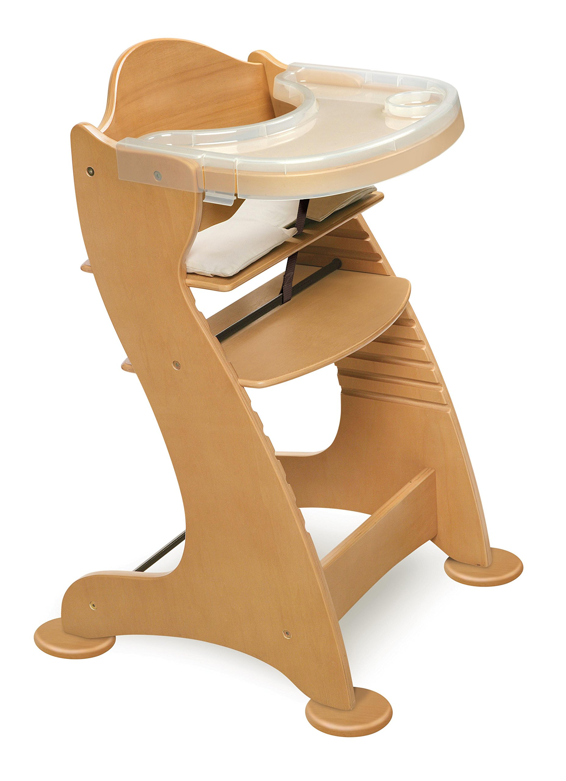 Embassy Convertible Height Adjustable Wood Baby High Chair with 2 Trays