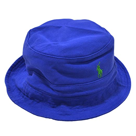 23dbbbf87a4 Polo Ralph Lauren Mens Mesh Casual Bucket Hat Blue S M at Amazon ...