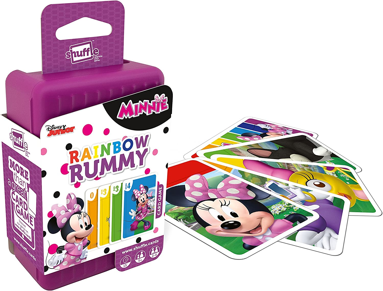 Shuffle 100240004 Minnie Mouse Rainbow Rummy: Amazon.es: Juguetes ...