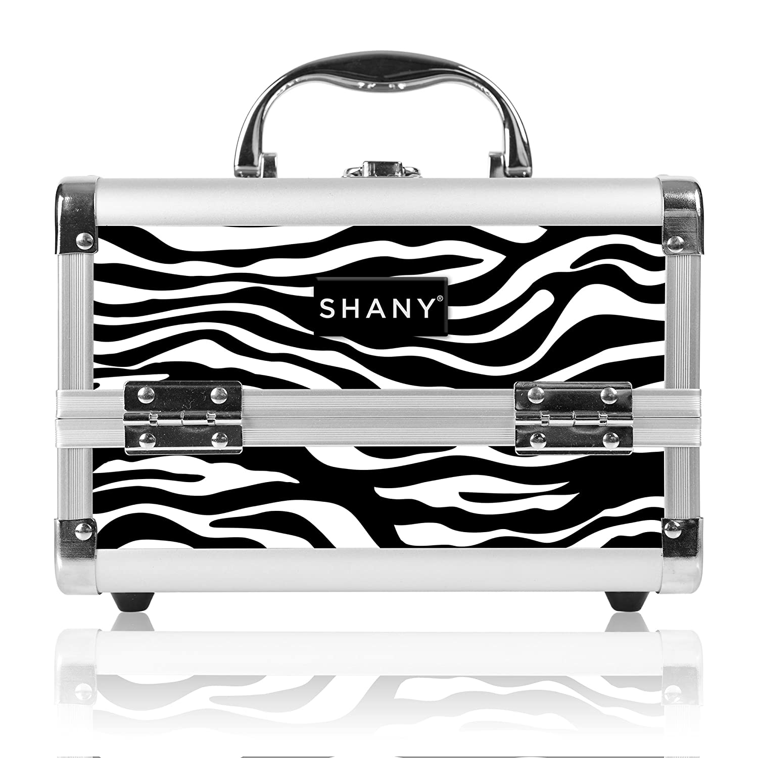 SHANY Mini Makeup Train Case With Mirror - Purple SHANY Cosmetics SH-M1001-PR