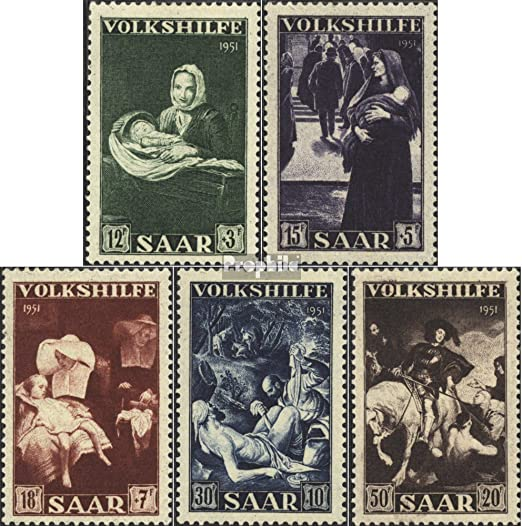 Prophila Collection Saarland 362-364 1955 Volksbefragung kompl.Ausg. Briefmarken f/ür Sammler