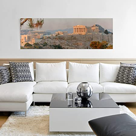 Bilderwelten Cuadro en Lienzo - Acropolis - Panorama Apaisado, Cuadros Cuadro Lienzo Cuadro sobre Lienzo Cuadro Moderno Cuadro Decoracion Cuadros Decorativos Cuadro XXL, Tamaño: 50 x 150cm